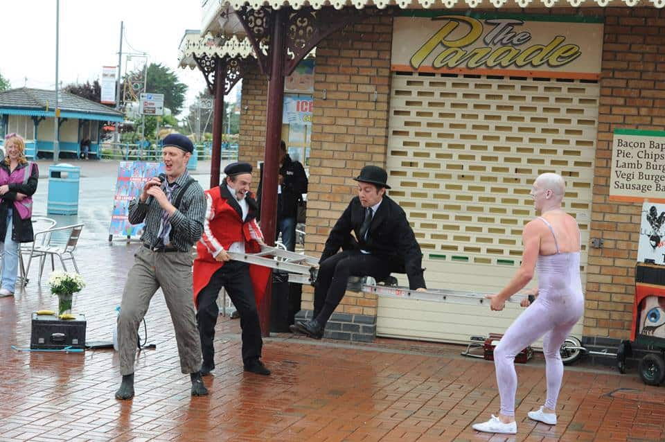 Le Navet Bete performed the hilarious Extravaganza at SO Festival 2013 in Skegness