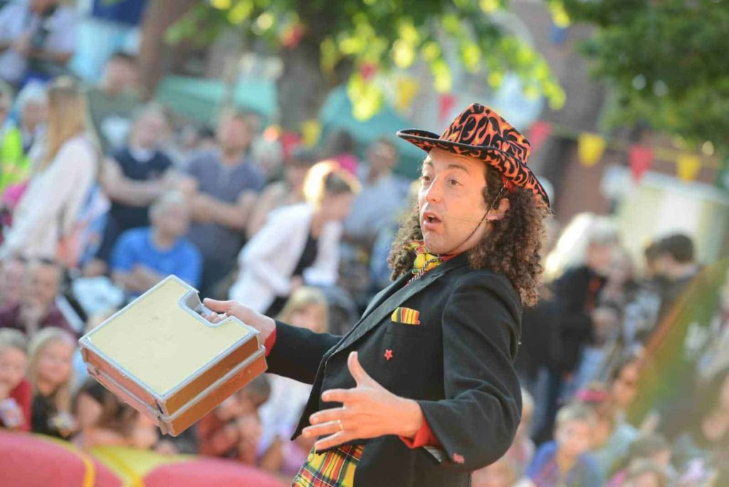 Compere and performer at 2015 festival