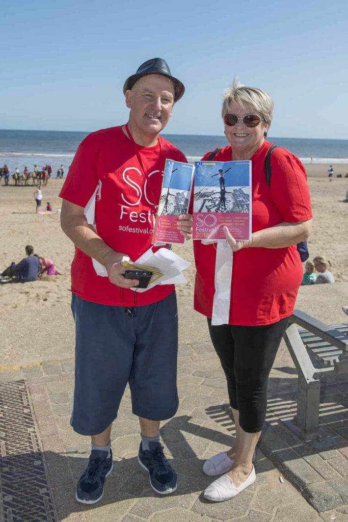 SO Festival 2018 - Mablethorpe Volunteers Martin Daly and Josie Creamer
