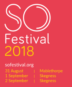 SO Festival Logo White and Yellow Text on Red Background
