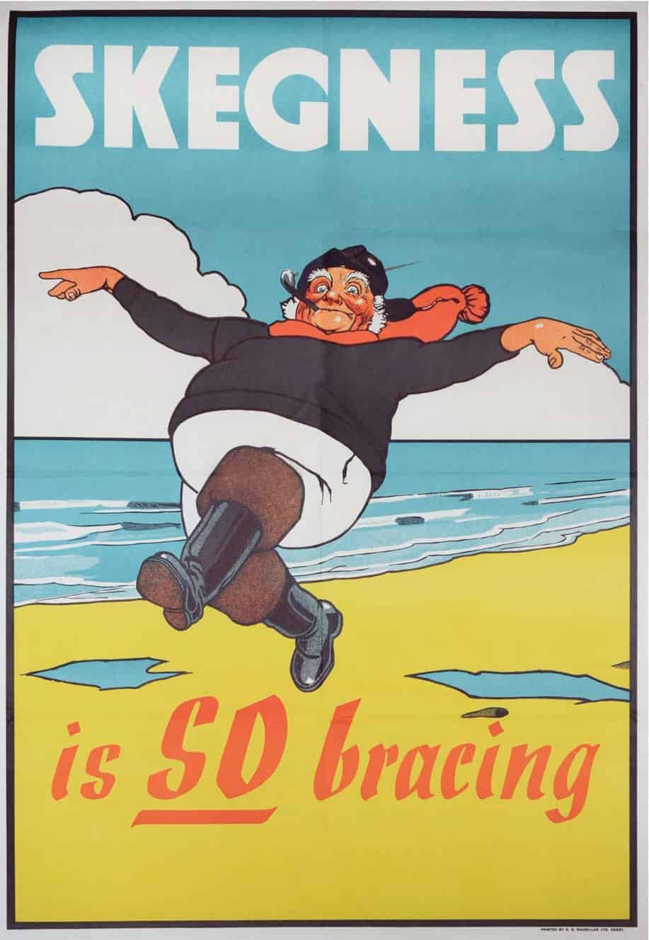 1908 John Hassall poster which features the town's Jolly Fisherman